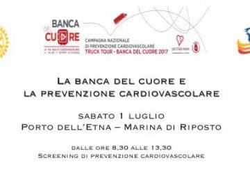 Sabato 1 luglio screening di prevenzione cardiovascolare al Porto dell'Etna