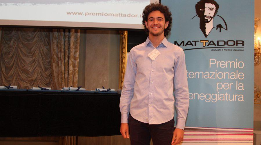 Al Premio Internazionale Mattador premiato per la migliore sceneggiatura per cortometraggio il catanese Daniele Napoli