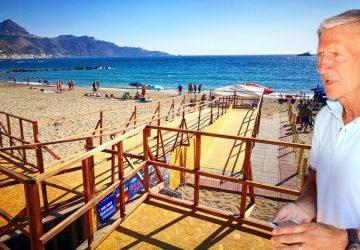 Giardini Naxos: la spiaggia di San Pancrazio pienamente accessibile ai disabili
