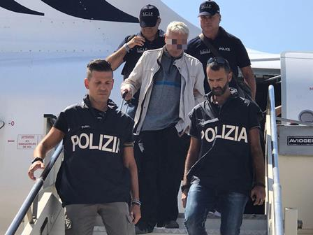 Estradato in Italia Francesco Corallo, arrivato ieri a Fiumicino