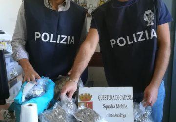 """Catania, duro colpo ai """"signori della droga"""":  sequestrati 5 chili di marijuana. Manette per Giuseppe Nizzari"""