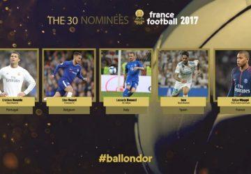 Pallone d'oro: solo due italiani nei trenta finalisti