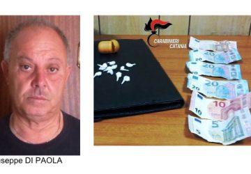 """Parcheggiatore abusivo spaccia """"coca"""" dinanzi il cimitero: un arresto ad Aci Sant'Antonio"""