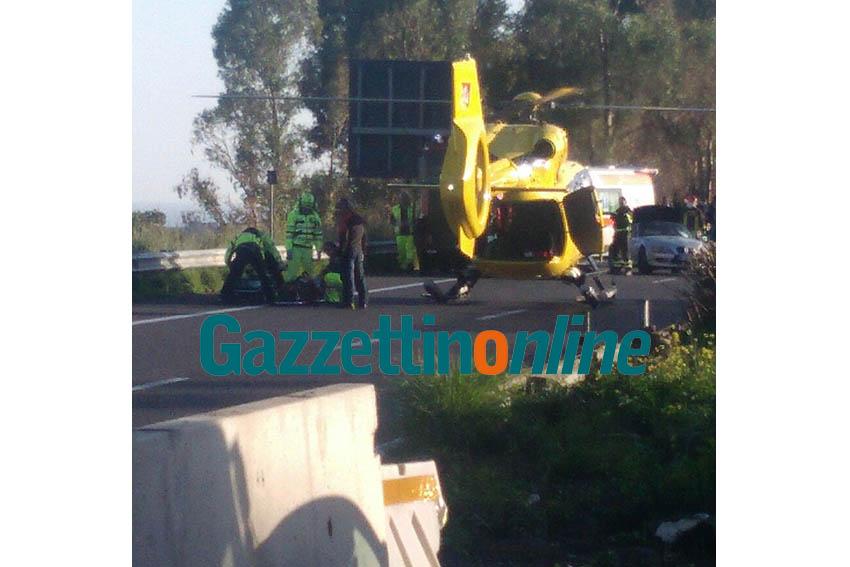 A18, altro grave incidente tra Acireale e Catania: intervento di elisoccorso e vigili del fuoco. Grave un 73enne giarrese VIDEO