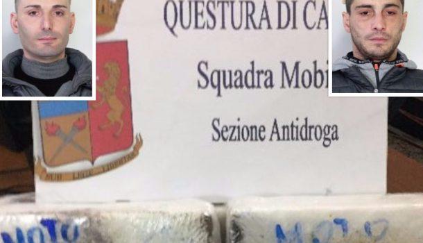 Catania, beccati con 3 kg di cocaina: in manette due corrieri