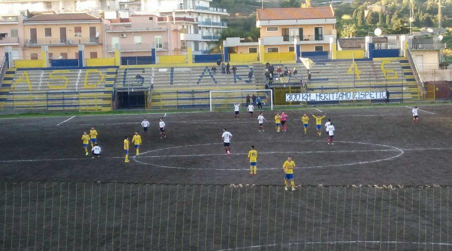 Il Giarre stende per 2-0 il Real Aci. Gialloblù a -3 dalla zona play-off