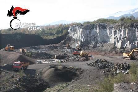 Mascali, carabinieri sequestrano cava per la frantumazione del basalto VIDEO
