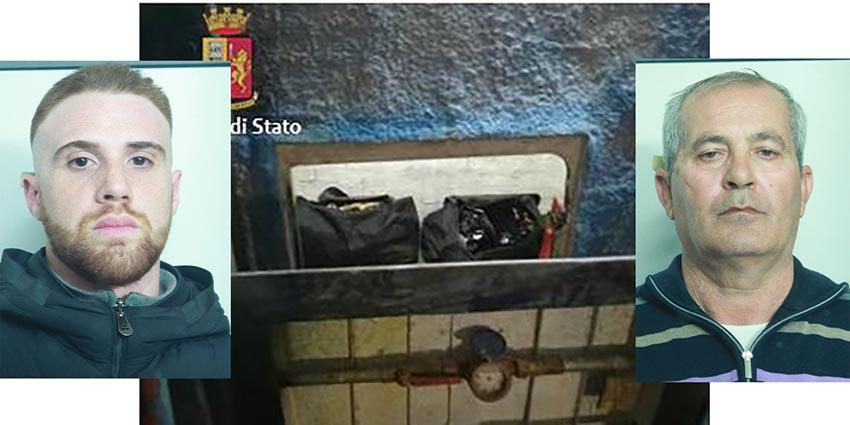 """Catania, a Picanello un """"bunker"""" nelle fondamenta di una scuola con 141 chili di droga VIDEO"""