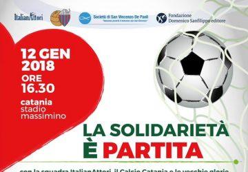 Catania, oggi la solidarietà scende in campo al Massimino