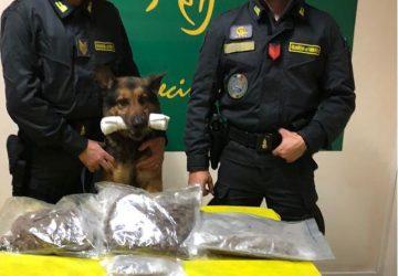Giarre, beccato allo svincolo autostradale corriere con 1,8 kg di droga