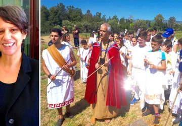 Giardini Naxos: scolaresche alla scoperta dei loro avi ellenici e dell'eroico Tysandros