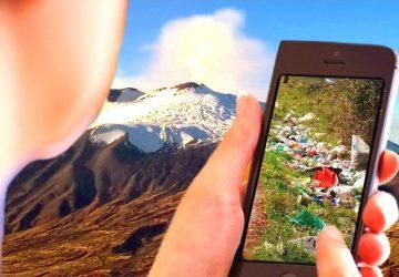 Smartphone e tablet per la lotta alle microdiscariche sul Vulcano