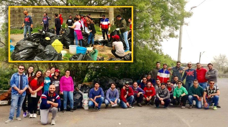 Linguaglossa: una domenica di volontariato per risanare il torrente San Leonardo