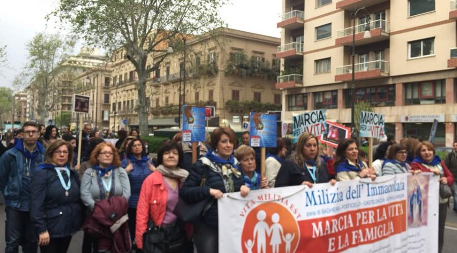 Palermo, ieri si è tenuta la Marcia per la Vita e la Famiglia