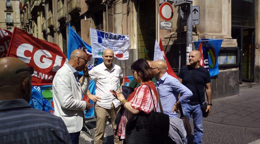 Carcere di Giarre: oggi sit in della Polizia Penitenziaria in Prefettura a Catania