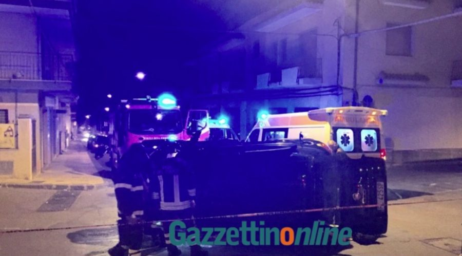 Giarre, pauroso incidente in via Luigi Orlando: tre feriti VIDEO