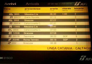 Messina-Catania-Siracusa, treni regionali: una continua odissea