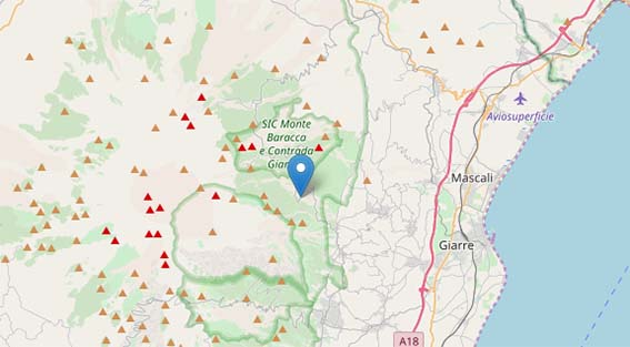 Sciame sismico sull'Etna tra Milo e Sant'Alfio: registrate 9 scosse