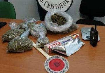 Catania, un kg marijuana in trolley: cane la fiuta. Denunciato 25enne