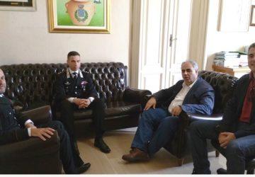 Giarre, visita istituzionale in municipio del nuovo comandante della Stazione dei Cc, Calabretta