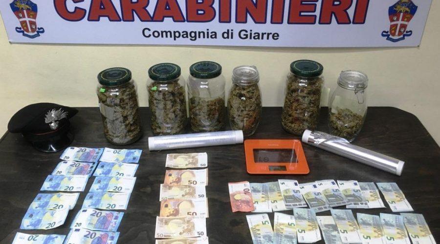 Giarre, nuovo colpo dei carabinieri. Sequestrata oltre un chilo di marijuana: 2 arresti