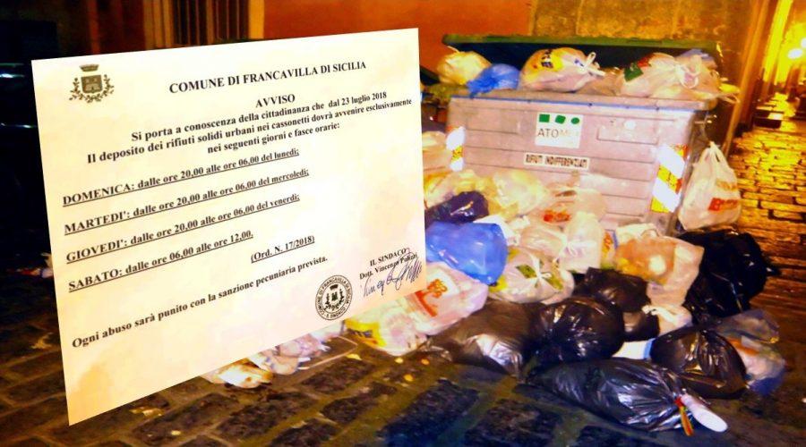 """Rifiuti a Francavilla di Sicilia: """"esercitazioni"""" in vista della raccolta differenziata"""