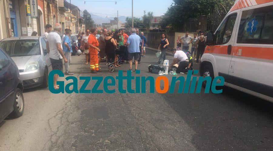Giarre, moto travolge 87enne mentre attraversava la strada. Intervento dell'elisoccorso VIDEO