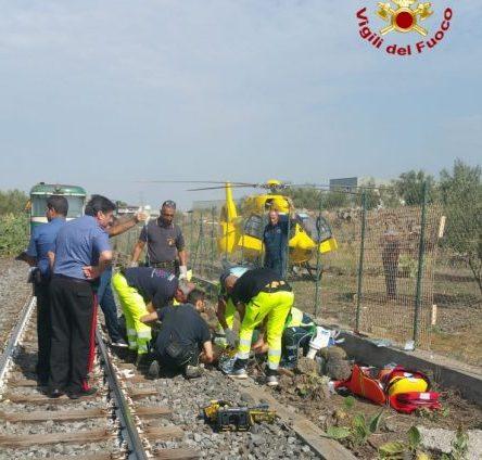 Biancavilla, stazionarie condizioni del 17enne travolto ieri da treno Fce
