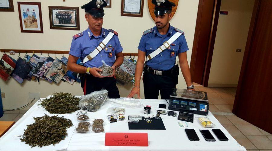 Gaggi: 17enne beccato con oltre 1 Kg di droga