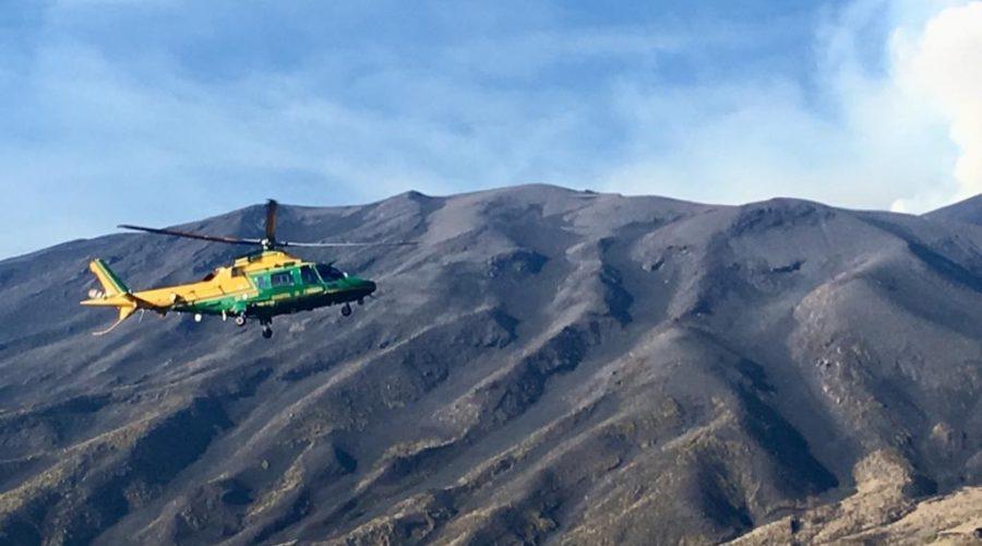 Esercitazione di ricerca e soccorso sull'Etna del Soccorso Alpino