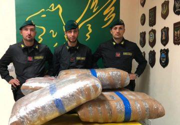 Sequestrati a Belpasso 142 kg di marijuana. Arrestati due trafficanti