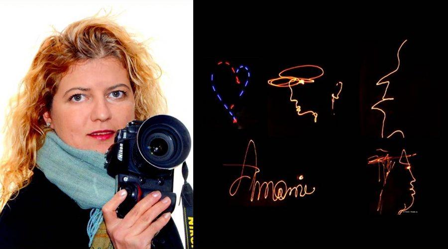 """Tra arte e scienza la """"scrittrice"""" della luce: Elisabetta Pandolfino"""