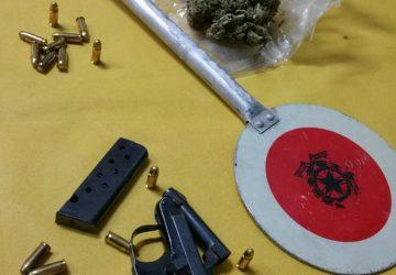 Catania: sequestrate in una casa pistola, munizioni e droga: un arresto