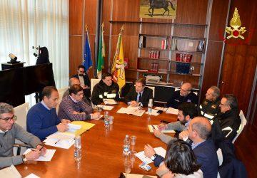Terremoto, vertice operativo del presidente Musumeci con i Vigili del fuoco