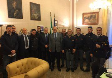 Catania, agenti di polizia delle Volanti ricevuti in prefettura