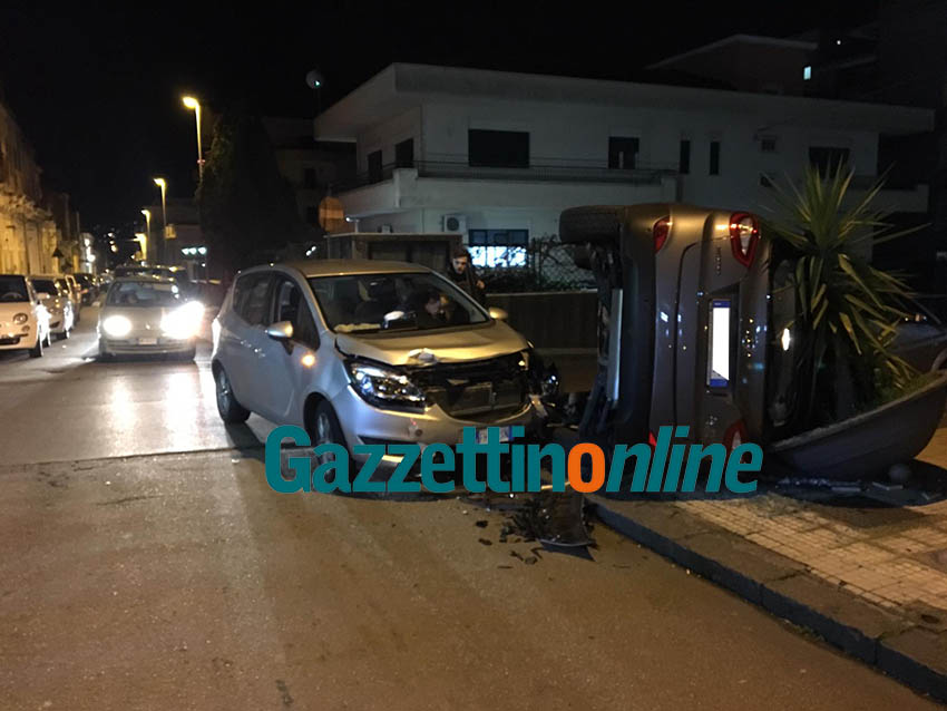 Giarre, violento incidente tra via Gravina e via Musumeci VIDEO