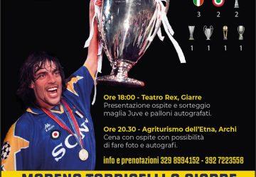 Questa sera Moreno Torricelli, ex Juventus, a Giarre