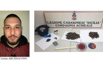 """Acireale, deteneva la droga in casa """"protetta"""" da un pitbull: arrestato"""