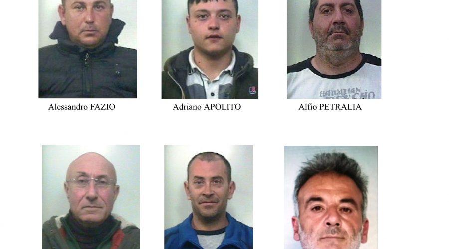 Operazione anticrimine nel comprensorio di Paternò, Adrano, Biancavilla, Belpasso e Santa Maria di Licodia: 6 arresti e 2 denunce