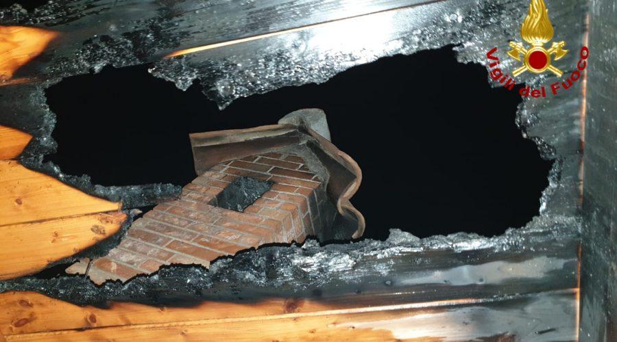 Zafferana, incendio sul tetto di una abitazione a Sarro