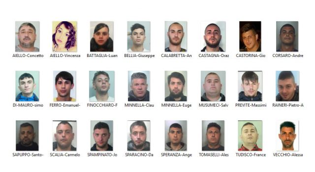 Catania, duro colpo allo spaccio della droga : 24 arresti NOMI FOTO VIDEO