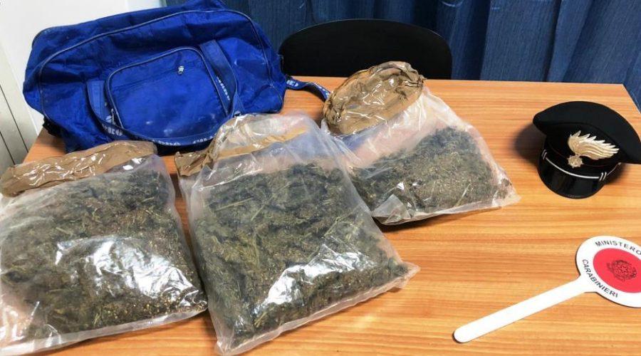 Paternò, controllo straordinario del territorio: sequestrati 2 Kg di stupefacenti