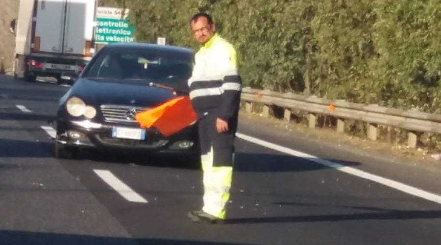 A18, incidente autonomo, rallentamenti vicino la barriera di San Gregorio