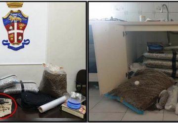 Sequestrati 30 Kg di marijuana, armi clandestine e munizioni. Un arresto a Paternò