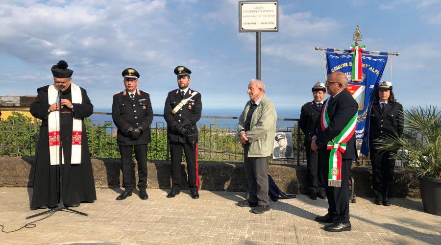 Sant'Alfio: intitolata una piazza a Giuseppe Cravotta, il maresciallo-operaio modello di rigore morale