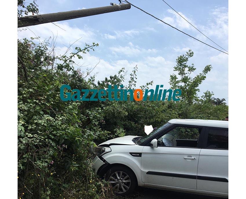 Giarre, incidente autonomo in via San Matteo VIDEO