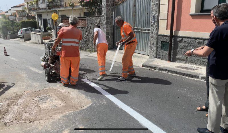 Carruba di Giarre, da oggi il nuovo piano viario in via San Martino