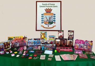 Vendita prodotti illegali, sequestrati 7 milioni di articoli dalla Gdf. Controlli a Giarre, Misterbianco e Paternò