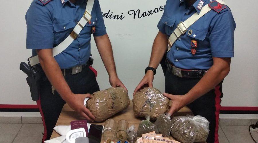 Taormina, a casa con oltre 1 kg di droga: arrestato 36enne