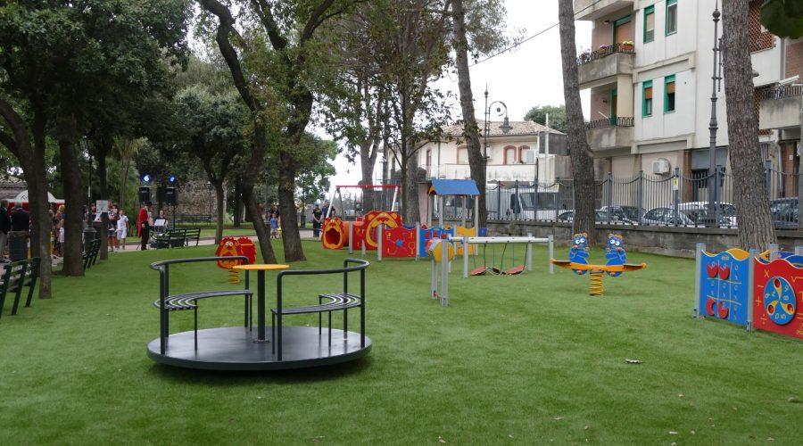Viagrande, inaugurata un'area giochi inclusiva nella  villa comunale